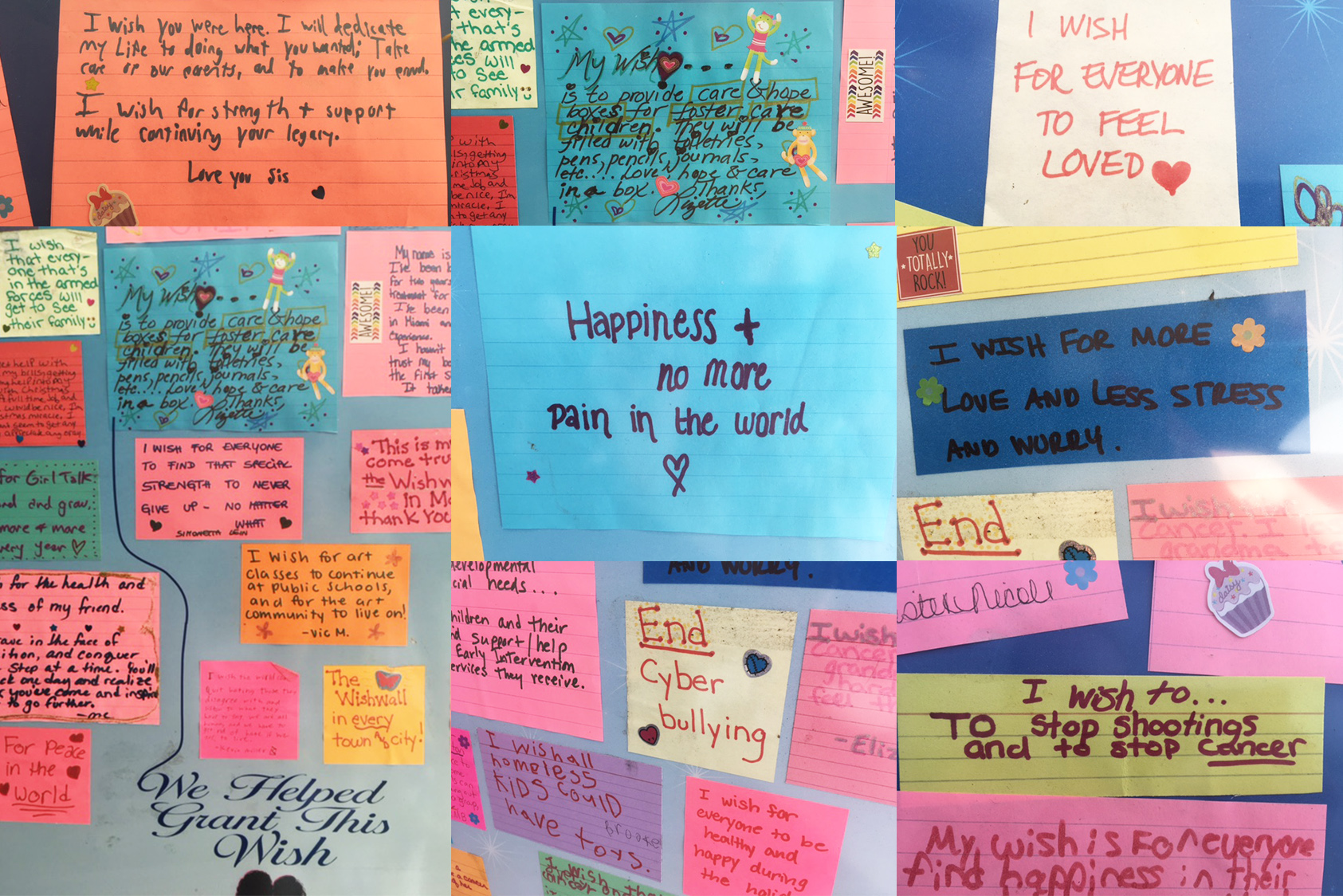 WISHES FROM THE WISHWALL